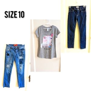 Girl clothes bundle of 3 Size 10